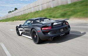 Development of plug-in hybrid Porsche 918 Spyder super sports car enters next phase.