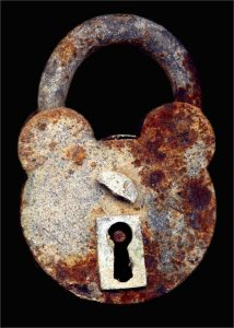 Picture: Padlock 1, 2012, by Gered Mankowitz