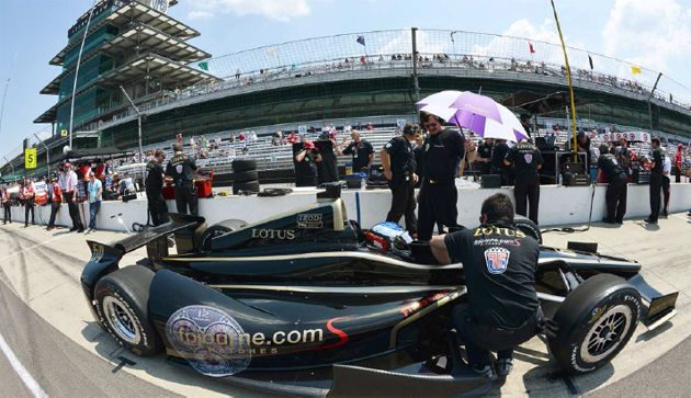 Jean Alesi completes qualifying for the Indy 500 race.