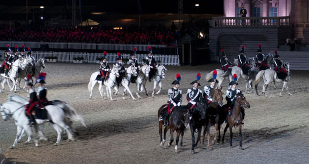 The Italian Carabinieri Regimen performs at the Diamond Jubilee.