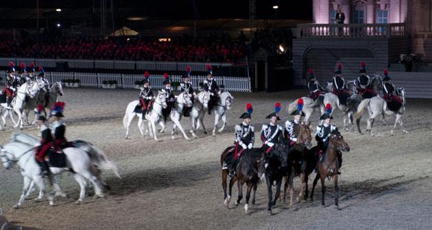 The Italian Carabinieri Regimen performs at the Diamond Jubilee.