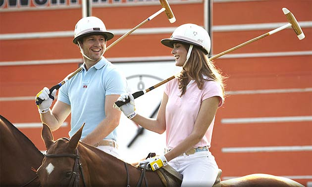 Learn to play Polo at Guards Polo Academy, Cowarth Park with Andrew Hine.