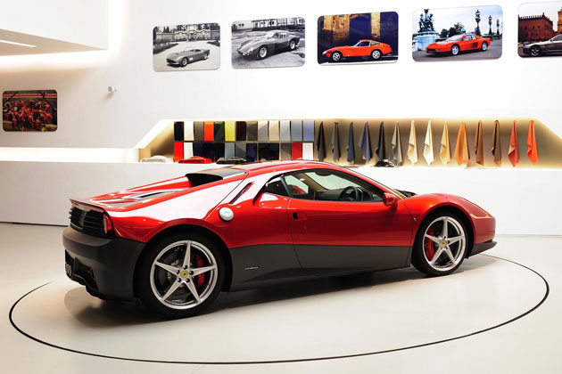 Eric Claptons Ferrari SP12 EC, an homage to the musicians long lasting love of Ferrari Cars.