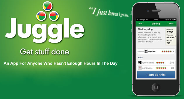 No time to get everything done? Juggle is the new iPhone App to help you.