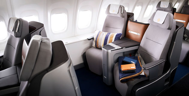 First Lufthansa scheduled flight with new Business Class.