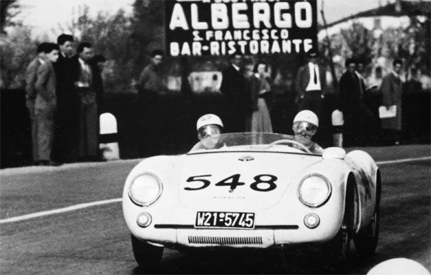 The Porsche Museum participates in the Mille Miglia once again.
