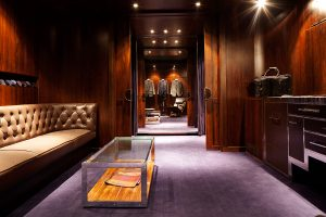 London based Luxury Mens Tailor Spencer Hart launches a new secret VIP dressing room.