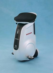 Honda unveil the new UNI-CUB a sit on personal mobility device for use within public spaces.