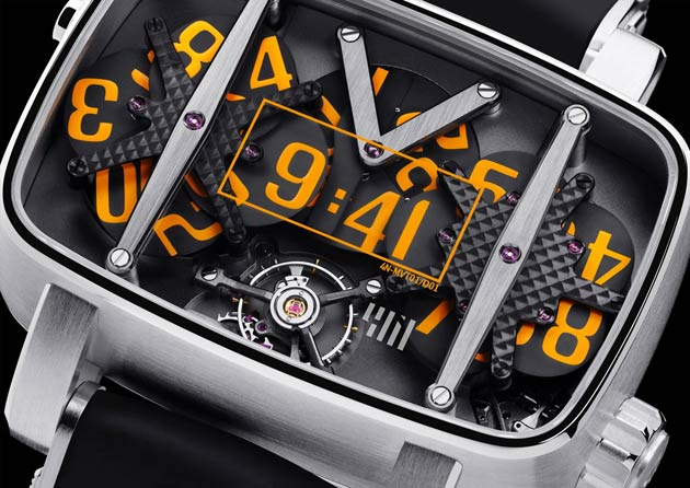 The watch 4N MVT0/D01 is an extraordinary mechanical watch available in 18K white gold or platinum.
