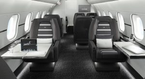 Brabus Private Aviation offers a design and manufacturing service for the cabins of brand-new executive jets.