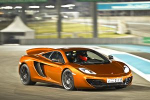The $229,000 (base price) MP4-12C features a 3.8-liter V8 twin turbo engine, which produces 592hp and 443 ft.-lb. of torque.