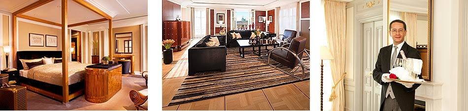 Accommodation at the Hotel Adlon Kempinski