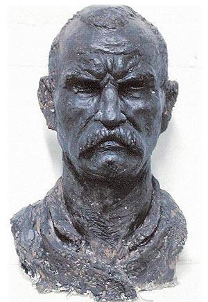 Andrian Melka Sculptor and recipient of a QEST Scholarship.
