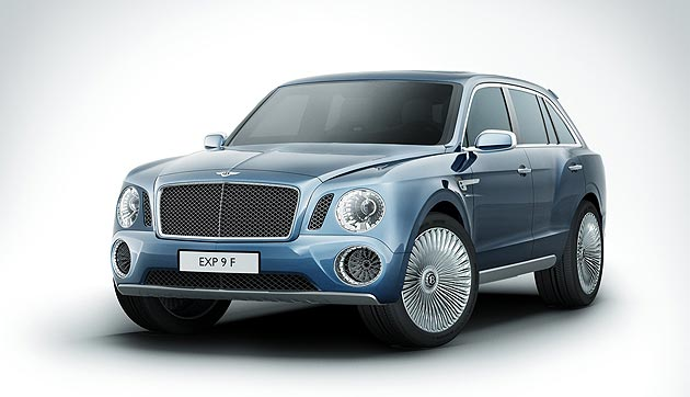 The Bentley EXP 9 F SUVis set to make its international debut at the 2012 Goodwood Festival of Speed.