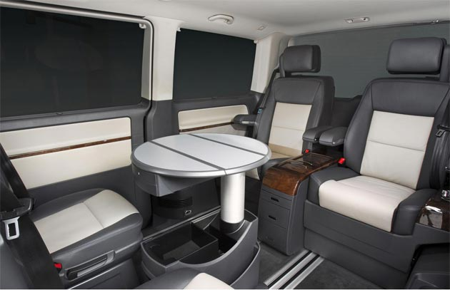 Volkswagen introduce the Caravelle Business, a mobile state of the art conference room.
