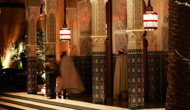 The summer settles in Marrakech and inspires relaxation at Hotel La Mamounia.