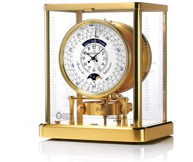Celebrating its Official Timekeeper status of the Diamond Jubilee Pageant, creates a special edition Atmos clock.