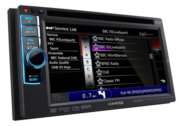Kenwood Electronics announce the launch of their first mutimedia system with DAB.