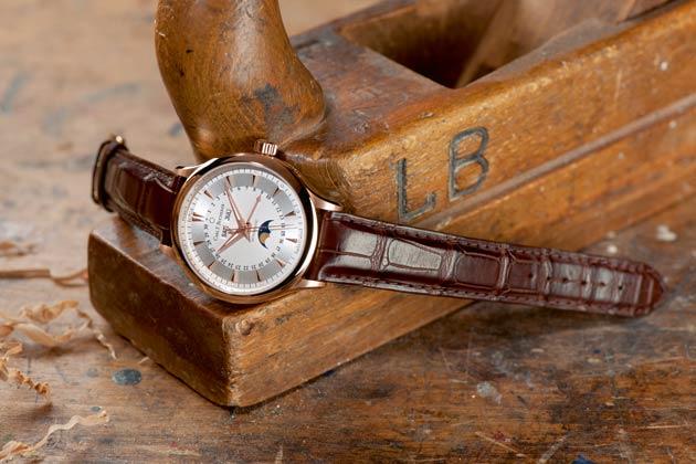 The Carl F Bucherer Manero MoonPhase wrist watch in rose gold.