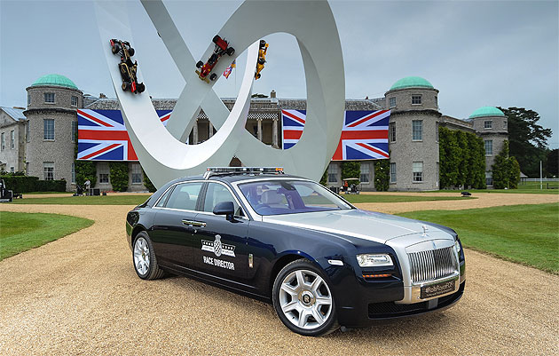 Rolls-Royce Ghost extended wheelbase to lead the way at Goodwood.