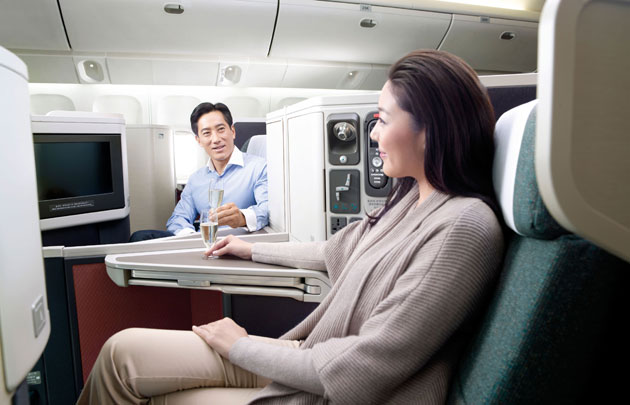 """Cathay Pacific accepts Skytrax """"World's Best Business Class"""" award on behalf of its customers and its staff."""