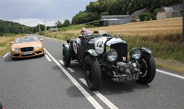 Bentley brand ambassador Derk Bell and the Mission Motorsport team at the Le Mans Classic.