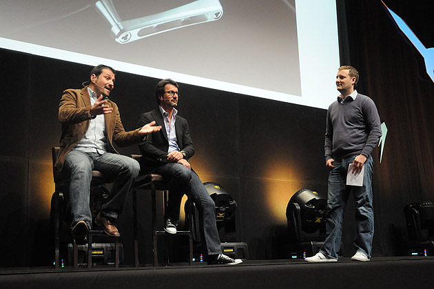 Xavier Dietlin and Maximilian Bussser, share visions at LIFT, the annual conference of new technologies.