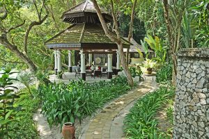Our living pavilion at the Estates at Pangkor Laut