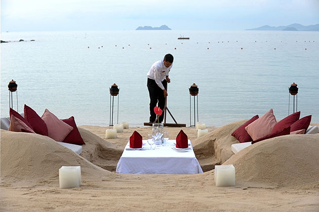 The Orient-Express Napasai Resort Invites Guests to Dine in their Very Own Sand Castle.