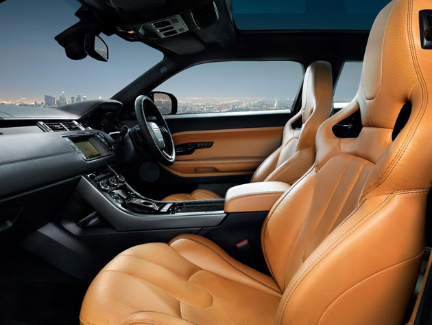 Bridge of Weir Leather has been specified for the interior of the new Range Rover Evoque Special Edition.
