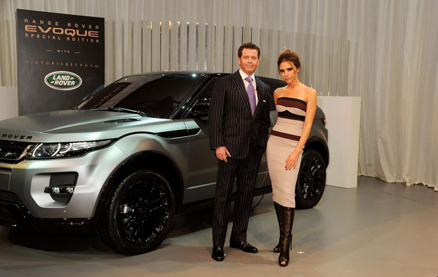 The Coupe-styled Range Rover Evoque Special Edition of just 200 is  set for first deliveries in October, comes in a matt-finish Stornoway Grey with contrasting Santorini gloss black roof and wheels – complete with rose gold accents around the 20-inch rims.