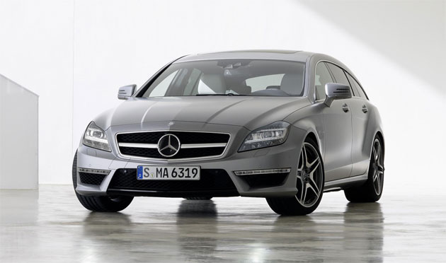 The Mercedes-AMG CLS 63 AMG Shooting Brake with a 6.3-litre V8 engine producing 557 hp.