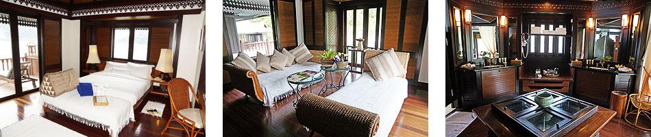 The interior of the Suria Suite