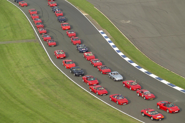 1000 cars registered to break the World Record for the Largest Parade of Ferrari Cars.
