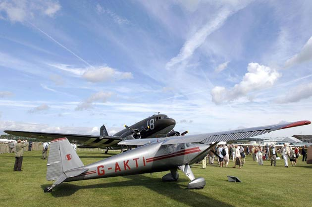 Goodwood Revival air displays to include Spitfires, Hurricanes, P51 Mustangs, P47 Thunderbolt, plus the world's only airworthy Canberra.