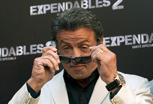 International movie icon and noted watch enthusiast, Sylvester Stallone was spotted on red carpet wearing a Patravi TravelTec by Carl F. Bucherer.