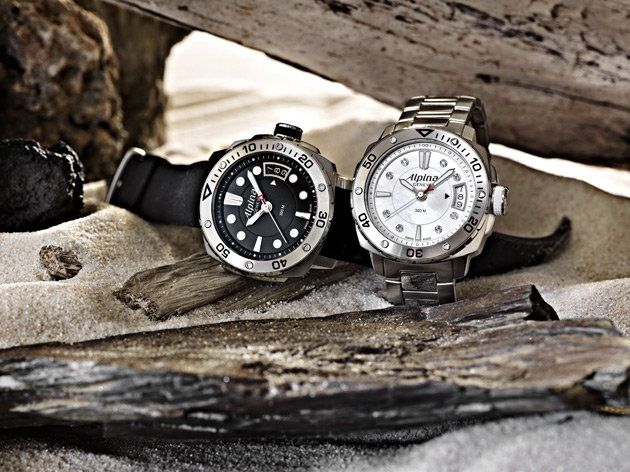 The Alpina Diver Midsize Watch Collection with a unisex version and dedicated ladies version.