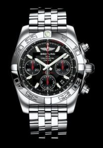 "Water-resistant to 200 m (660 ft), the Breitling Chronomat 41 Limited is naturally chronometercertified by the COSC (Swiss Official Chronometer Testing Institute) – as indeed are all Breitling models. A strong, unique and quintessential design, combined with all the performances expected of an authentic ""instrument for professionals""."