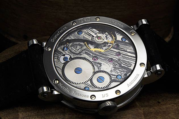 Gustafsson & Sjögren Watches (GoS) Damascus steel movement in Nordic Seasons - Autumn 1/5