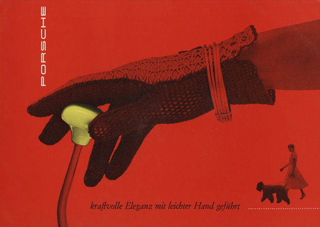 An elegant glove, a poodle, a hunting rifle: From 4 September to 4 November 2012, the Porsche Museum is exhibiting the works of the versatile Stuttgart painter and commercial graphic designer Hanns Lohrer (1912 – 1995) – and these works extend far beyond the topic of motor cars.
