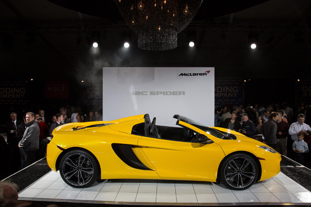 McLaren Automotive showed the second model in its growing range of high performance sports cars, the new 12C Spider, for the first time in public at this weekend's Pebble Beach Concours d'Elegance.