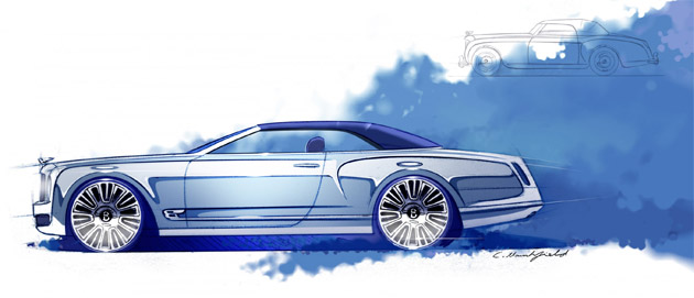 """Commenting on the Mulsanne Convertible Concept, Wolfgang Dürheimer, Bentley's Chairman and Chief Executive said: """"The modern, luxurious, high-tech Mulsanne saloon provides a perfect foundation on which to create the world's most elegant convertible. The Convertible Concept will extend the appeal of the Mulsanne family, while enhancing the profile of the Bentley brand, particularly in new and emerging markets."""""""
