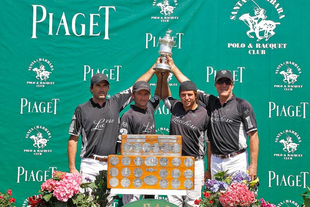 Piaget president of North America, Larry Boland, congratulated the winning Lucchese team and presented them with the coveted USPA Piaget Silver Cup, the oldest polo trophy awarded in the United States. Santi Torres received the MVP award and Best Playing Pony went to Adolfo Cambiaso's Delfina Diana.