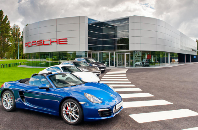 Porsche rated as the best car brand overall with 94% ownership satisfaction score - Porsche centre in Portsmouth, Hampshire. United Kingdom