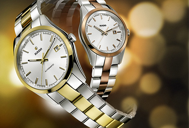 The Rado HyperChrome collection in rose and yellow gold-coloured editions.