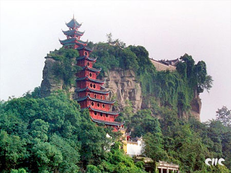 In addition to the natural scenery, there are many sights along the route of the Yangtze River. One of the most iconic destinations is the Shibao Pagoda, a 200-meter tall fortress built into the side of a cliff hanging over the river. Visitors also get the chance to visit the infamous Three Gorges Dam and sail through the ship locks.