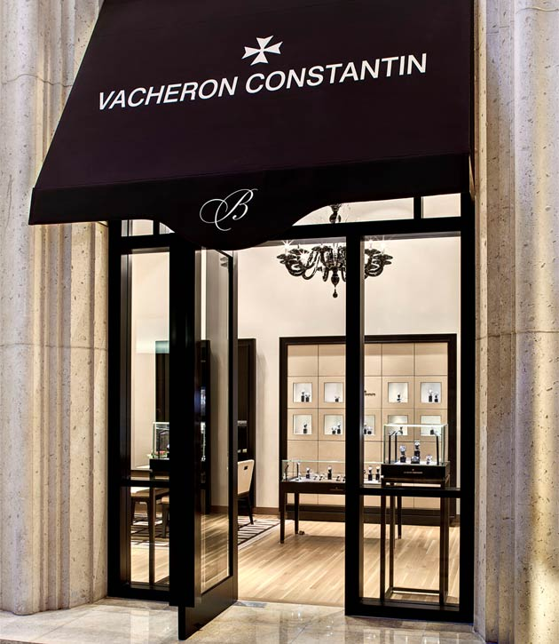 The new Vacheron Constantin boutique will offer the entire range of collections from the Geneva-based Manufacture, as well as exclusive boutique models, testifying to the elegant and refined design, the technical excellence and aesthetic perfection which define the Vacheron Constantin ancestral tradition and unique know-how.