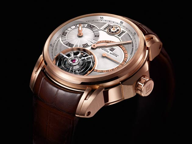 Antoine Martin's Tourbillon Quantième Perpétuel was preselected in the category 'Complicated Watches of the CPHG 2012' - The so called watchmaking 'Oscars'.