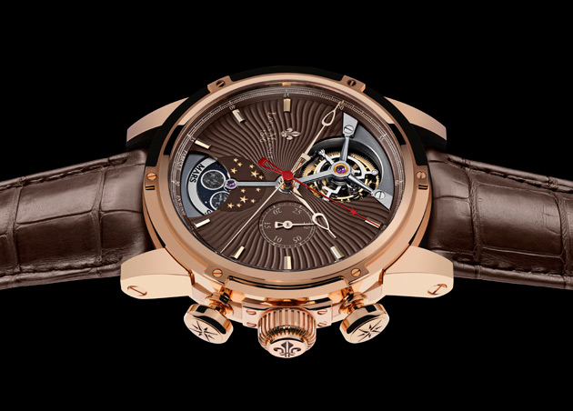 The Louis Moinet Astralis with Planetarium and four highly-polished rare meteorites 4