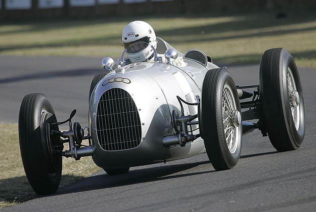 In addition to the 250 GTOs, this year's Revival will offer visitors a truly unique opportunity to see a large gathering of mythical pre-war Silver Arrows being demonstrated on track together at speed for the first time in more than 70 years. The sensational Auto Unions and Mercedes-Benz will appear alongside examples of the ERAs, Maseratis, Rileys and MGs they trounced on their first appearance on British soil, 75 years ago at the 1937 Donington Grand Prix.